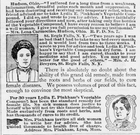The original influencers: patent medicine testimonials (1910) #ChronAm  #Wisconsin #WisconsinNews #WisconsinHistory