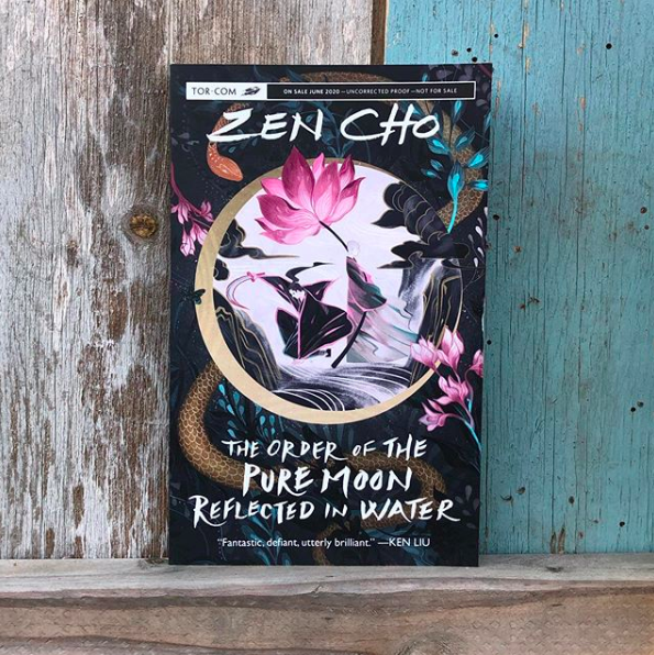 THE ORDER OF THE PURE MOON REFLECTED IN WATER by @zenaldehyde: a found family wuxia fantasy that combines the vibrancy of old school martial arts movies with characters drawn from the margins of history.https://publishing.tor.com/theorderofthepuremoonreflectedinwater-zencho/9781250269256/…