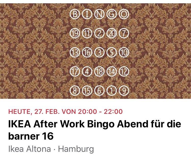 IKEA Bingo zugunsten von @Barner16 Juhu die Musik ist super! Mal sehen was die Zahlen sagen... pic.twitter.com/O0wGhoeBvZ