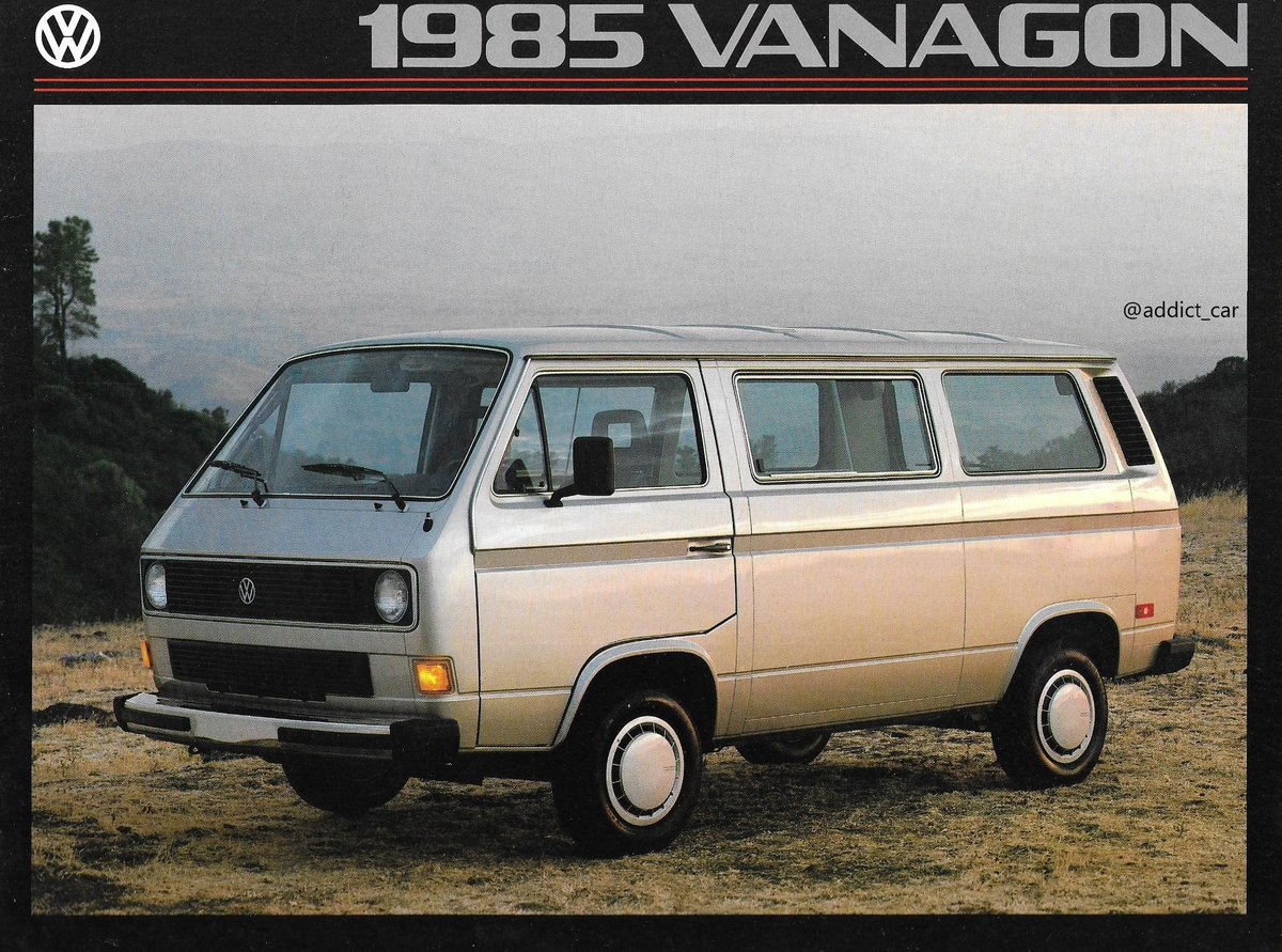 Carbrochureaddict On Twitter Is It A Van Is It A Wagon It S Both Combined In The Slightly Tongue Twisting Name Of This Volkswagen Vanagon The North American Version Of The T3 This 1985