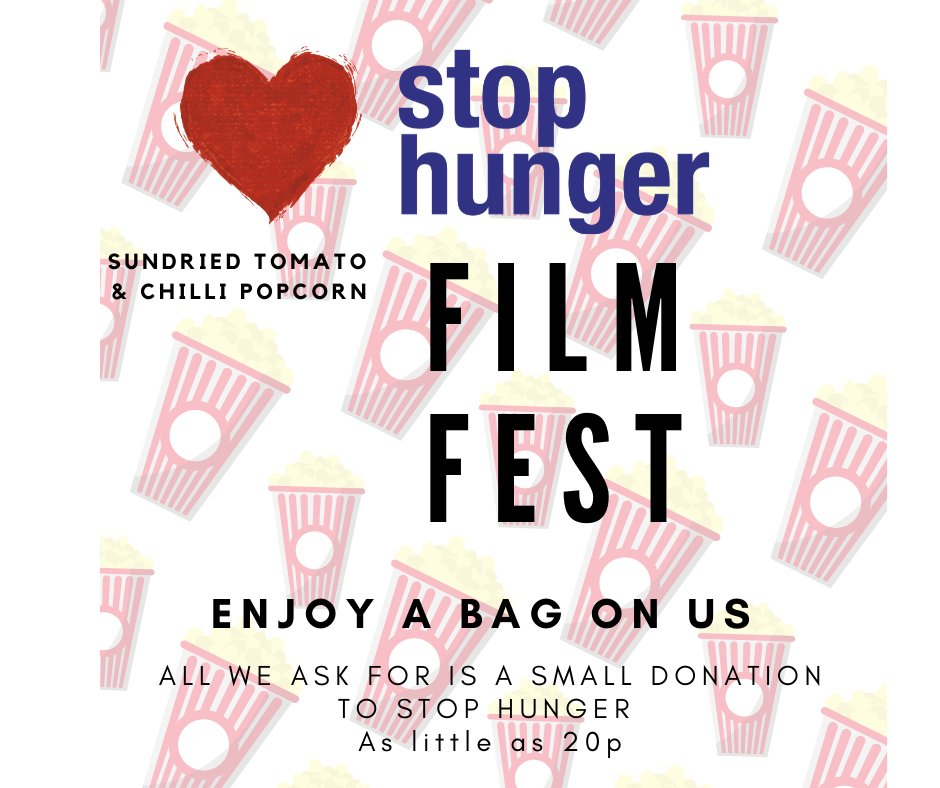 Friday night is always movie night , so why not to pop into city social tomorrow for a savoury & healthy bag of popcorn on us! All we ask for is a small donation for stop hunger - This can be as little as 20p - Make sure you pop down once it's gone it's gone! pic.twitter.com/IwDvR3kZOx