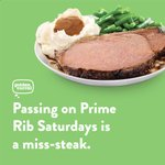 Image for the Tweet beginning: Passing on Prime Rib Saturdays
