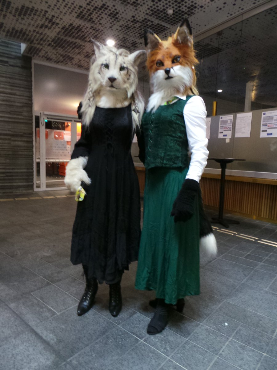 Two majestic ladies. One of them is @Forfaox .  #NordicFuzzCon #Fursuit #Fursuits #FursuitEveryday #FursuitFriday #NFC2020<br>http://pic.twitter.com/Y3xcVQvwch