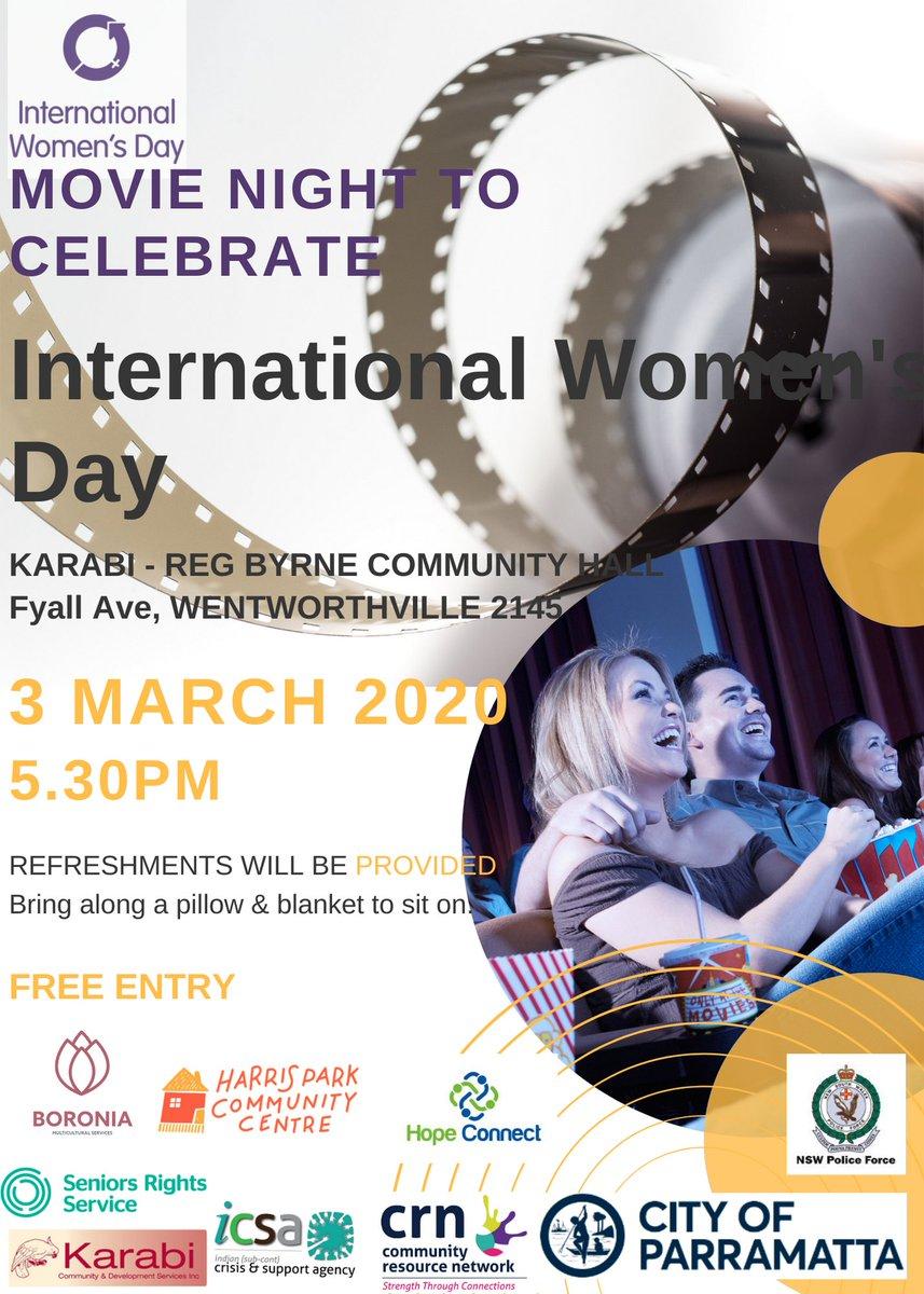 International Women's Day Movie Night - Wentworthville - https://mailchi.mp/05be1cbf632d/international-womens-day-movie-night-wentworthville…pic.twitter.com/5ErRVZZYUk