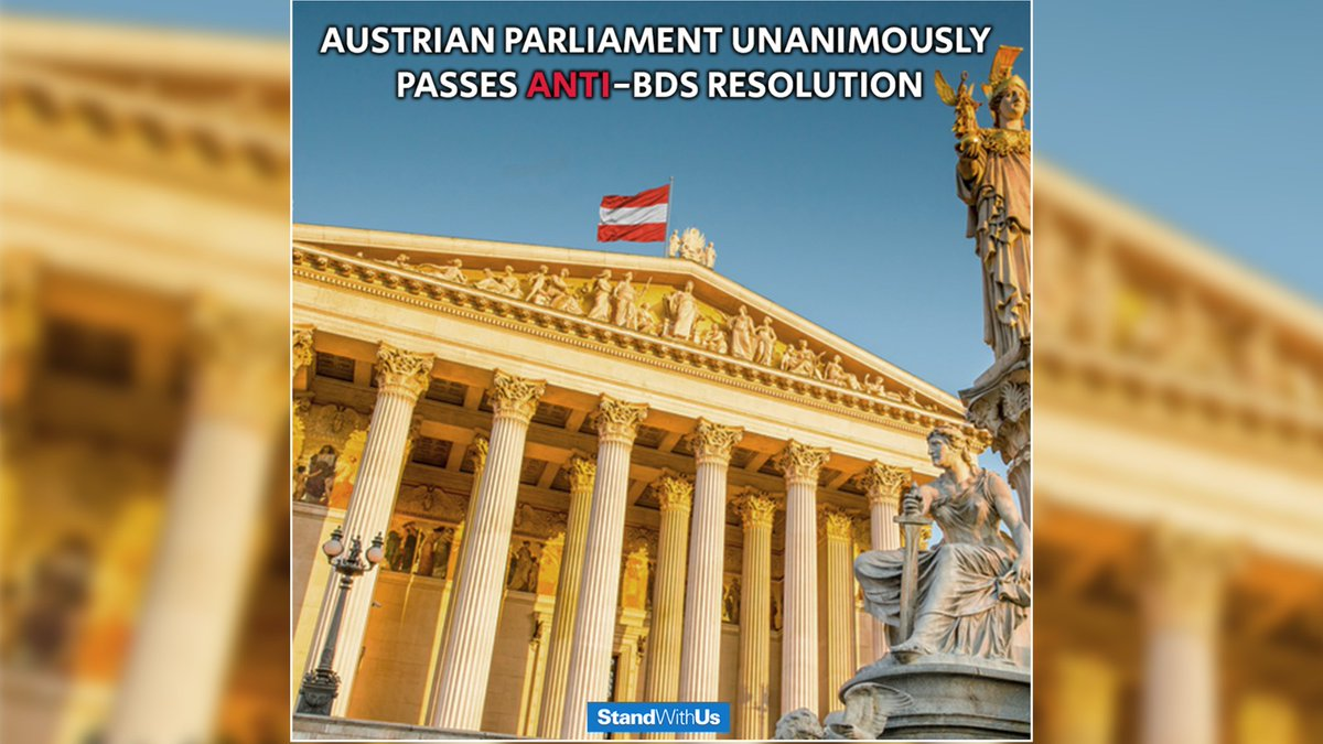 The Austrian Parliament has rejected the boycott of #Israel!<br>http://pic.twitter.com/3J7JmVspUd