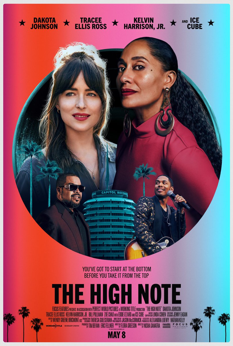 I'm excited. @TheHighNoteFilm is coming to a theater near you on May 8! #TheHighNote