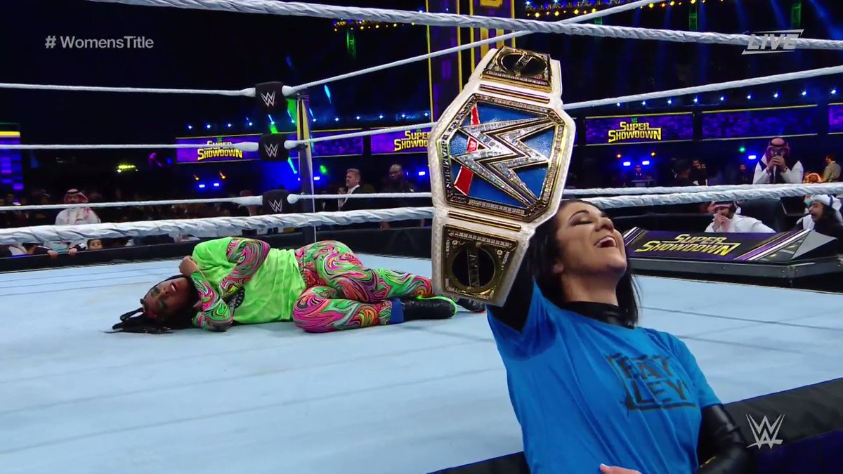 WWE Super ShowDown: Naomi Vs. Bayley (SmackDown Women's Title Match)