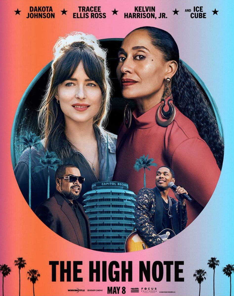 Here's the poster for #TheHighNote starring #TraceeEllisRoss, #DakotaJohnson, #KevinHarrisonJr and #IceCube. In theaters May 8! <br>http://pic.twitter.com/vEGdxSaPRs