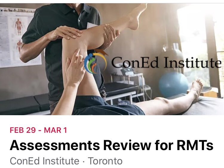 Join us this coming weekend in #Toronto. For information and registration visit http://ConEdInstitute.com  Be bold in your pursuit of #education... • #massagetherapy #manualtherapy #kinesiology #personaltraining pic.twitter.com/8GmsVYZFKa