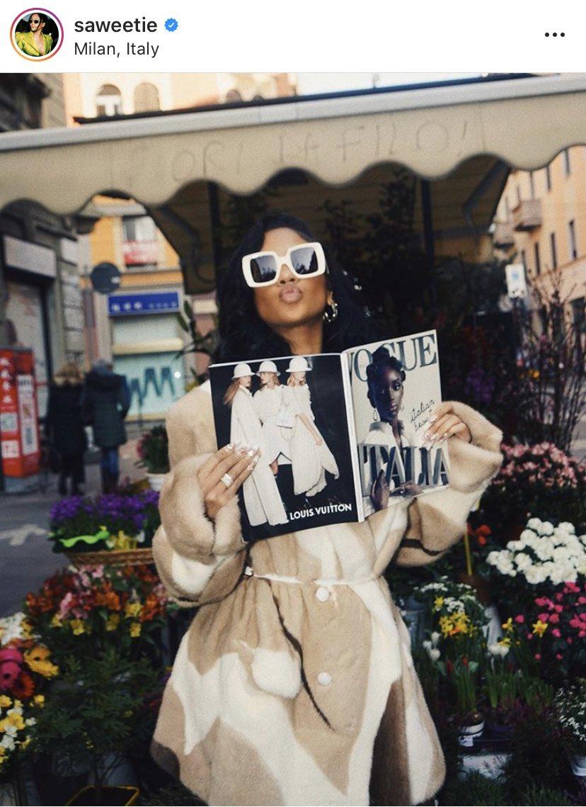 """#KarenWalker as worn • Saweetie in """"Isadore"""" sunglasses Eyewear Distributed by @quad22_thailand  #sunglassses #eyewear #meneyewear #quad22 #quad22thailand #womeneyewear #KarenWalkerEyewear #saweetie"""