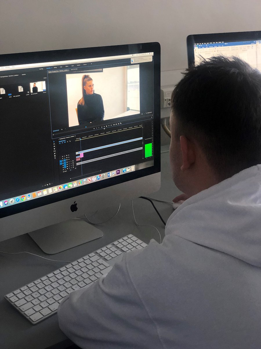 Our media student, Woody Grey has been working on a racism and football documentary as part of his assessment. He has sourced his own contacts by carrying out his own research & interviewing people such as Newcastle United. Keep up the good work #StudyMedia #Creativitypic.twitter.com/EuAUMGhbBu