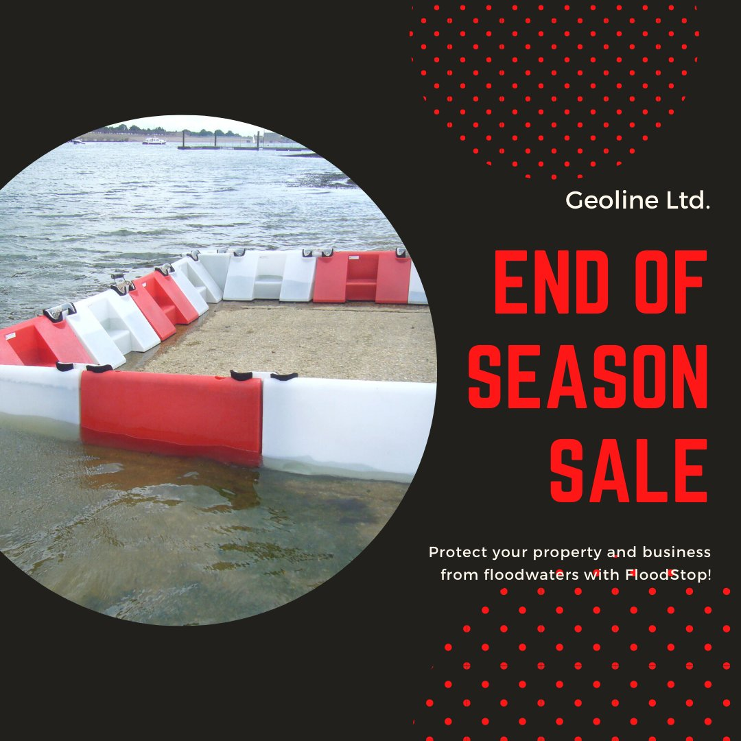 End of Season Sale now on! Call our office today to secure your order! Phone +353 (0)51 294 090 #flood #floodbarrier #salepic.twitter.com/HqngBsj6Pv