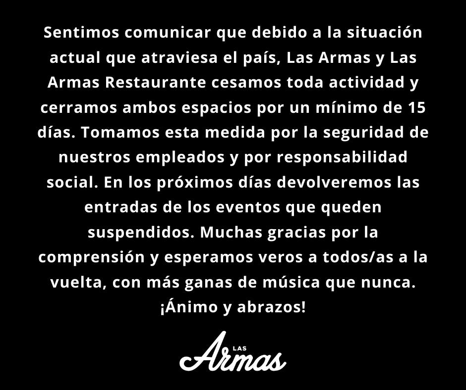 ⚠⚠ COMUNICADO LAS ARMAS ⚠⚠ https://t.co/dyrrMTwBRW