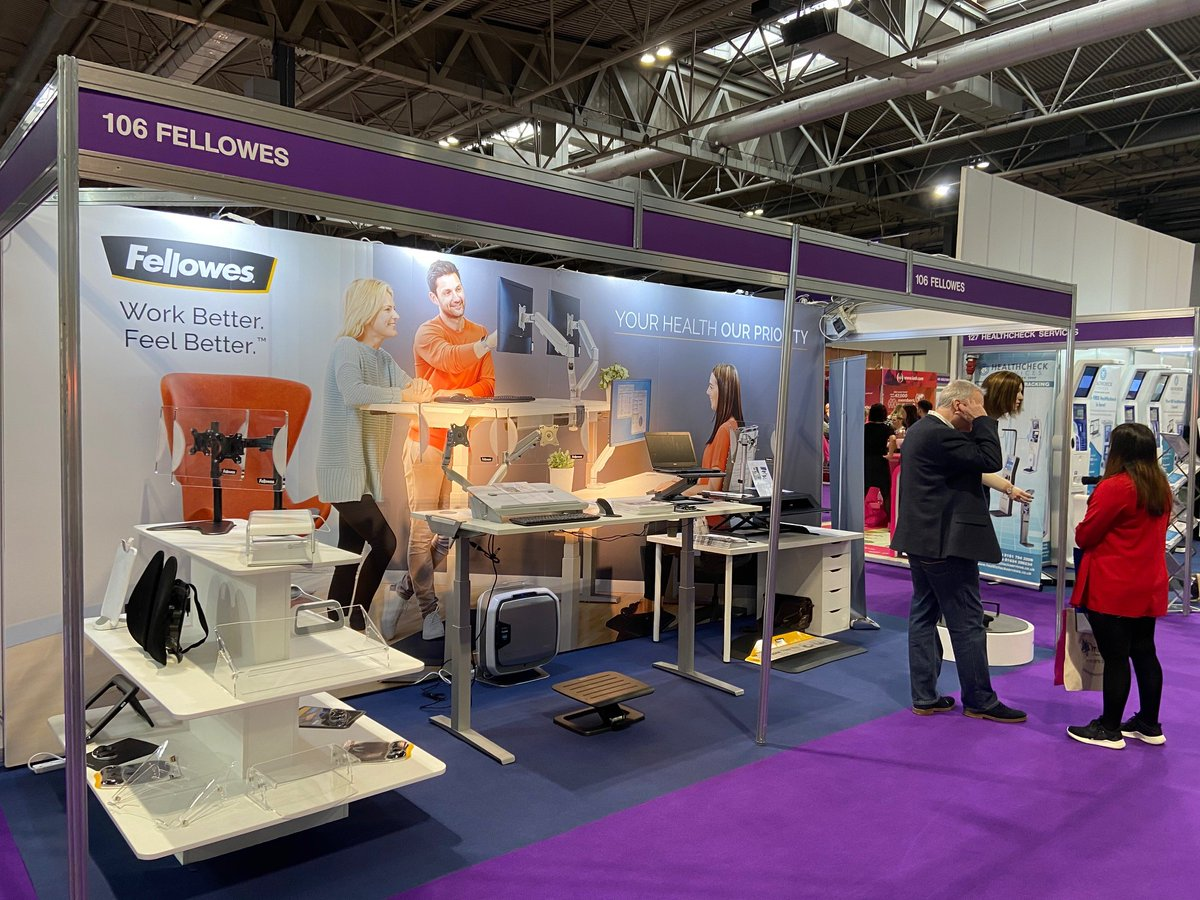 It's our final day at @HWatWork today!  Come to stand #106 to meet Emma - Our Work Colleague of the Future. #HelloEmma 🗣 Our team on the ground is excited to share our innovative product solutions to help you setup a healthier workspace. #WorkBetterFeelBetter #HealthyWorkplace