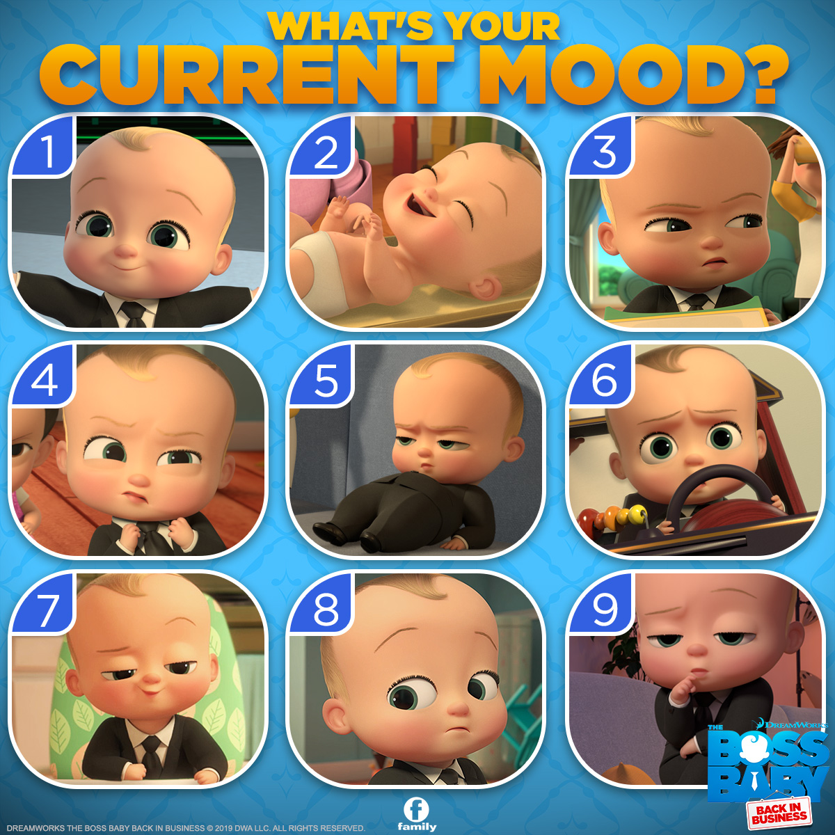 Family Channel On Twitter Whatever Your Mood You Ll Love Watching New Episodes Of Boss Baby Back In Business Weekday Afternoons At 5pm Et Pt Https T Co Tsv8grpmnq