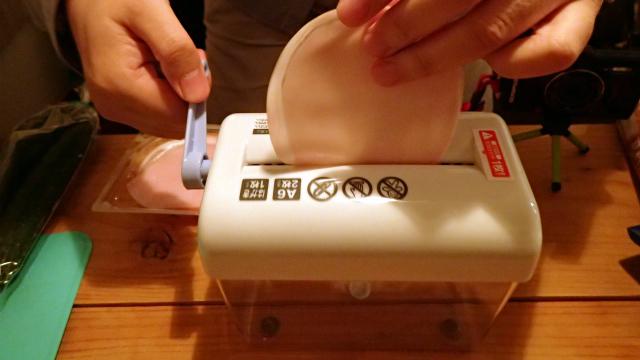 シュレッダーを使って冷やし中華を作る。おもしろいほどできてしまいました。