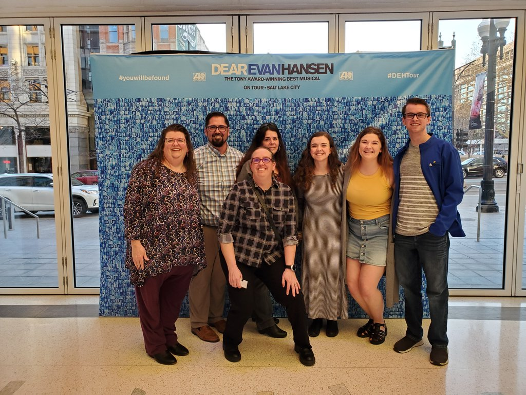 Doing some major #fangirling at #DearEvanHansen in SLC!! #youwillbefound