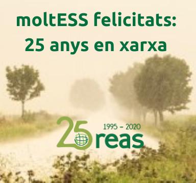 🎂 Aquest 2020 @Reas_Red fa 25 anys enxarxant l'economia solidària arreu de l'estat!  Per celebrar-ho, han preparat tot un seguit d'accions: https://t.co/GMDzv2s48m  Per molts anys!   #REAS25anys #MoltESSfelicitats #ESS https://t.co/lPnHTiOk9Z