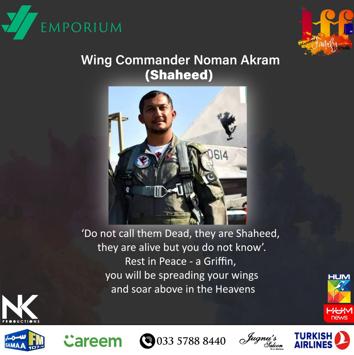 May Allah give the highest place in jinnah for one of the best pilot PAF ever had. Rest in Peace Hero. #Paf #pakistanairforce #F16Crash #f16fightingfalcon #airforce #pakistan  #hero #F16 #islamabad #planecrashpic.twitter.com/NjNpIcZh3w