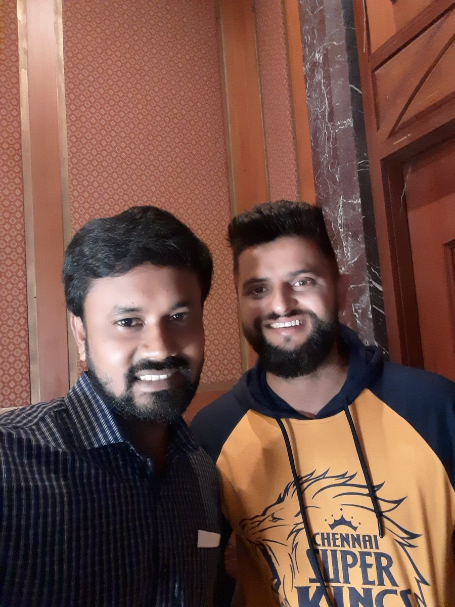 Chinna Thala @ImRaina in the House. Such a Sweet Personality  @IPL @ChennaiIPL @CSKFansOfficial #CSK #whistlepodu #anbuden
