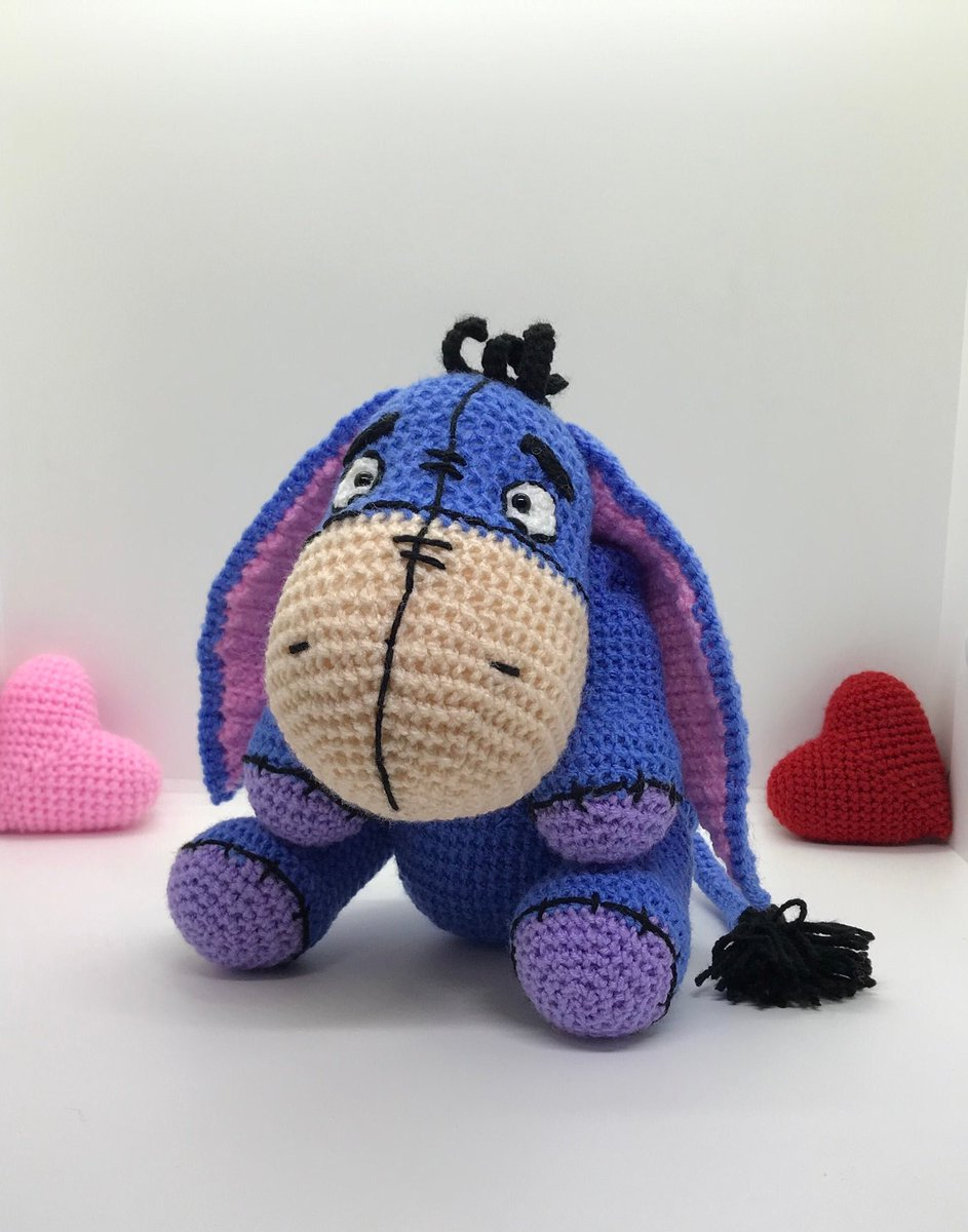 Eeyore Inspired Softie | Crochet, Diy crochet, Crochet projects | 1200x943