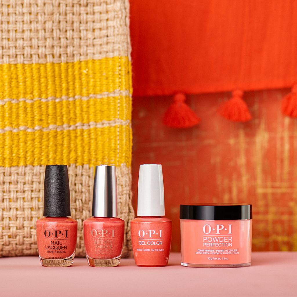 #MuralMuralOnTheWall is that feel good shade that we're all about these days! #OPIMexicoCity #ColorIsTheAnswer #GlitterNails #CoralNails Available in salons across all color systems: #OPINailLacquer #OPIInfiniteShine #OPIGelColor and #OPIPowderPerfection  http://bit.ly/39FKNNkpic.twitter.com/Fu2t12oCY3