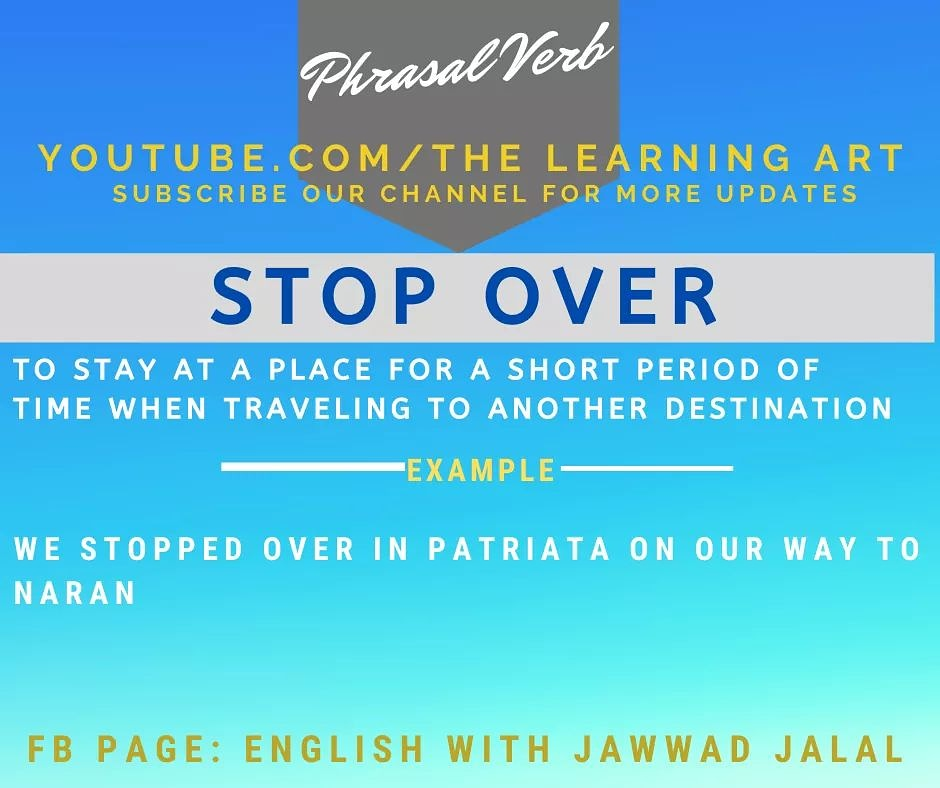 Phrasal Verbs at #EnglishWithJawwadJalal Subscribe us on YouTube: https://www.youtube.com/channel/UCt9OSV37-HMhgsWTXSqtFQg… #TheLearningArt #YouTubeChannelTheLearningArt #JawwadJalal #EnglishLanuage #EnglishGrammar #EnglishOnline #EnglishLearningpic.twitter.com/EzoZB2hiwg