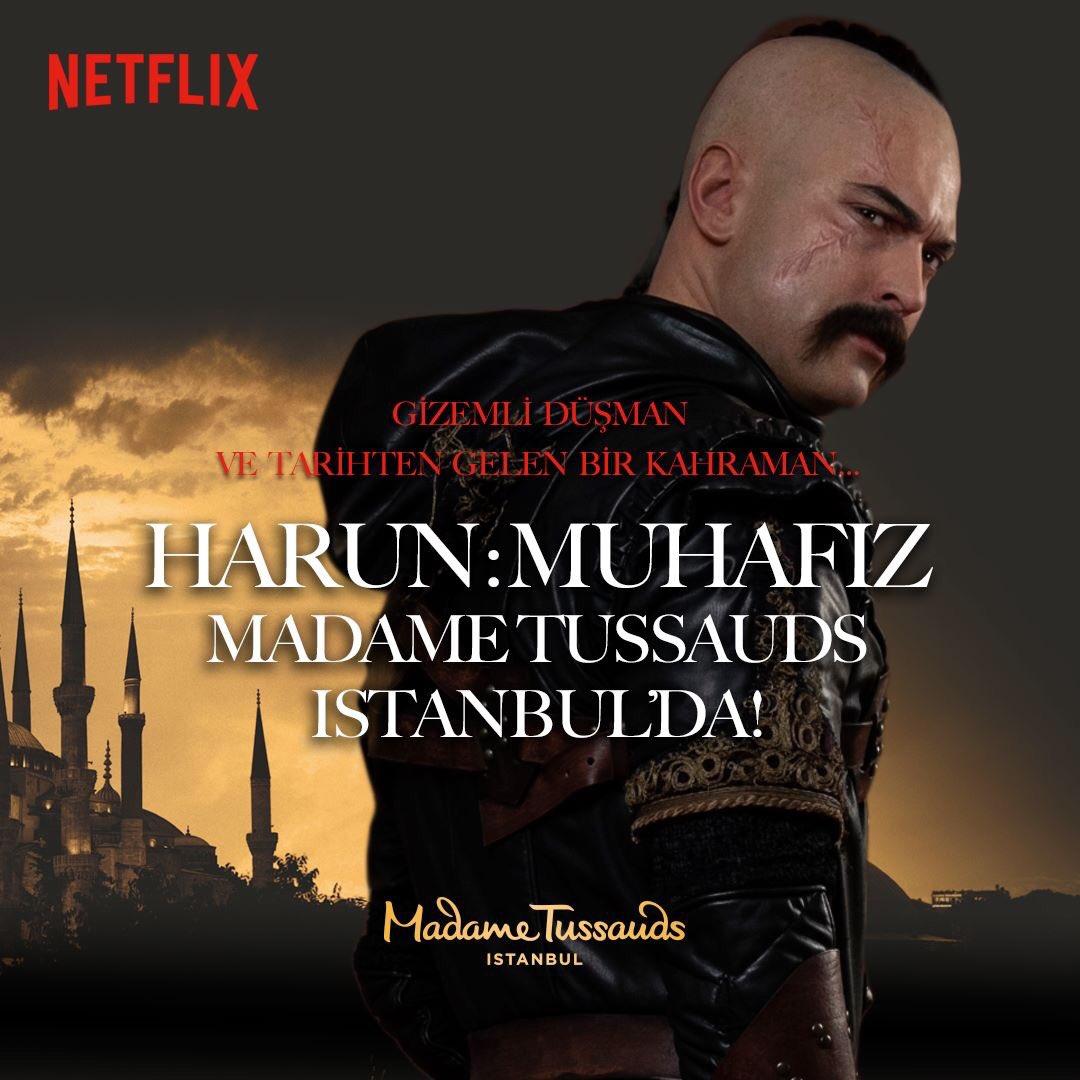"""@cagatayulusoyy'un hayat verdiği Muhafız karakteri """"Harun"""", ilk Netflix orijinal figürü olarak Madame Tussauds İstanbul'da! 3. sezon ise @netflixturkiye'de! #HarunMuhafız  #theprotectorpic.twitter.com/NpNEwXC4zB"""