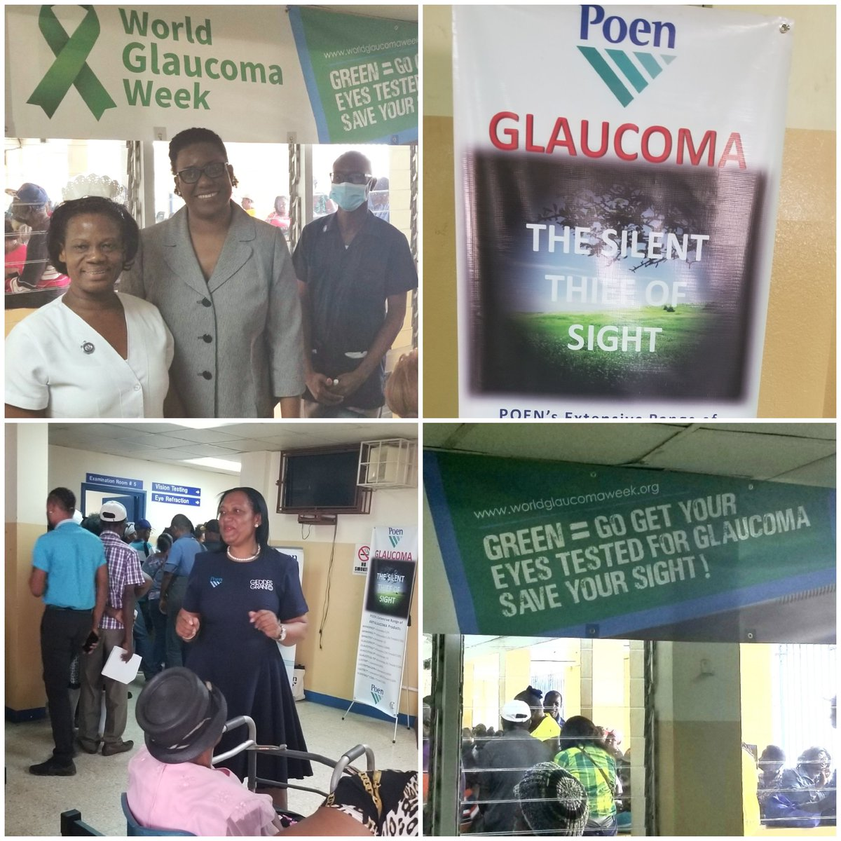 """test Twitter Media - A warm welcome to #glaucomaweek to our friends in Jamaica! """"We will be providing literature and doing short talks with our patients sensitizing them to the condition and reminding them about proper use of eyedrops. We are all excited about raising awareness in Jamaica."""" https://t.co/FHip3JF6mz"""