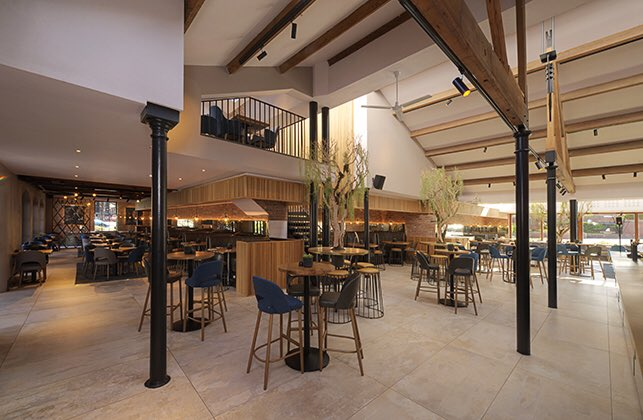 This is a favourite project of ours. We had just launched our Tubular range of track spots and they look great to this day -we know this as @dukes_92 is an office favourite for lunch! #hospitalityweek #hospitalitylighting #lighting #interiors #bardesign #restaurantdesign #design
