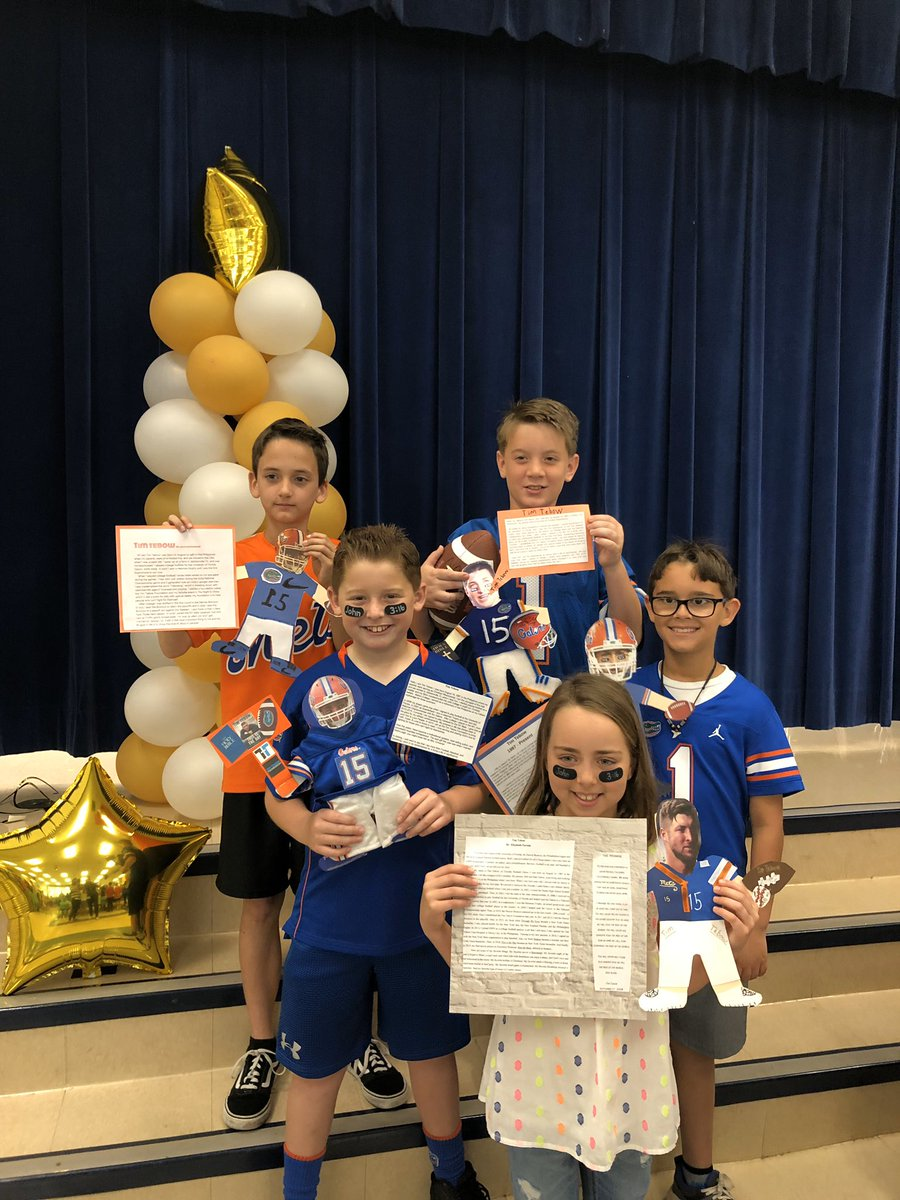 Hey @TimTebow ... a lot of kids today @WindermereOCPS represented you for the annual Famous Floridian speeches!  The kids did great and thank you for being a great influence!  Wish you could have been there! Go Gators! #believeinthemission #timtebowfoundation #Gatornation #Gatorspic.twitter.com/miZWWEnejG