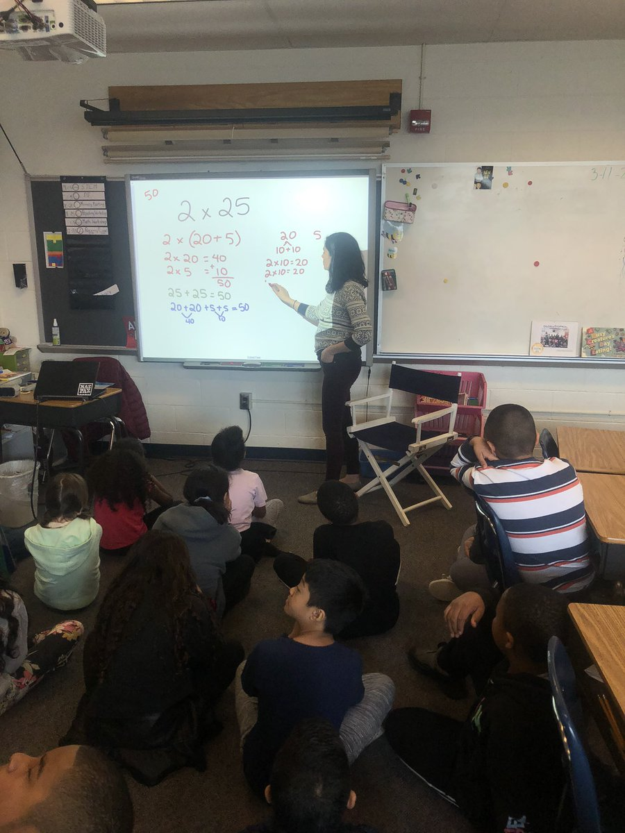 We had a guest today! Ms. Plunkett did some number talks with us to warm up before math workshop <a target='_blank' href='http://search.twitter.com/search?q=hfbtweets'><a target='_blank' href='https://twitter.com/hashtag/hfbtweets?src=hash'>#hfbtweets</a></a> <a target='_blank' href='http://twitter.com/HFBMath'>@HFBMath</a> <a target='_blank' href='http://twitter.com/APSMath'>@APSMath</a> <a target='_blank' href='https://t.co/LPCDYzkFaB'>https://t.co/LPCDYzkFaB</a>