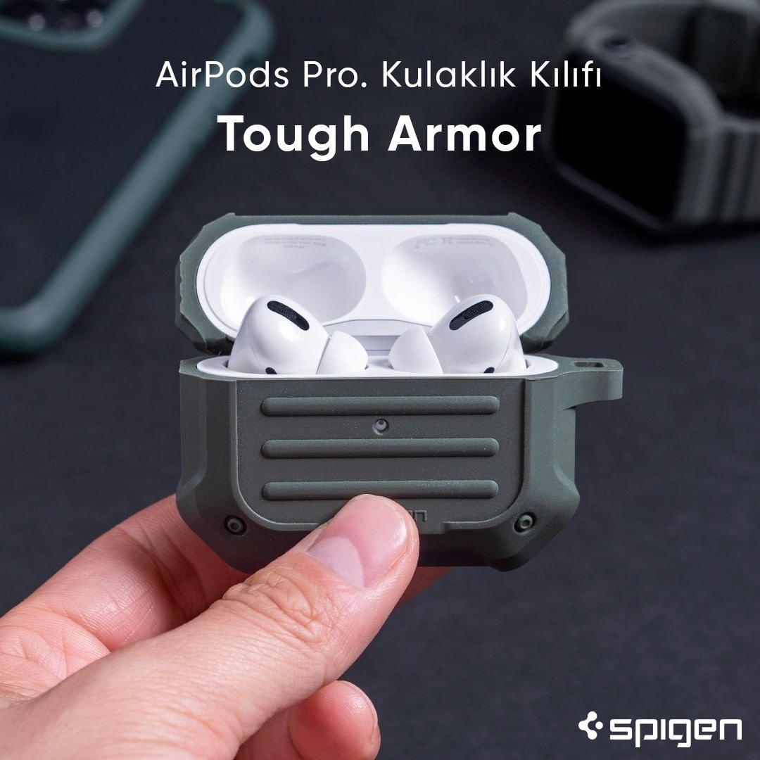 Kompakt, şık ve çok güçlü.    AirPods Pro. Kulaklık Kılıfı, #Spigen Tough Armor ► http://bit.ly/2u52iXI  #spigenturkey #spigentürkiye #apple #airpods #appleairpods #appleaccessories #airpod #applemusic #music #casepic.twitter.com/g2oZ7LlppT
