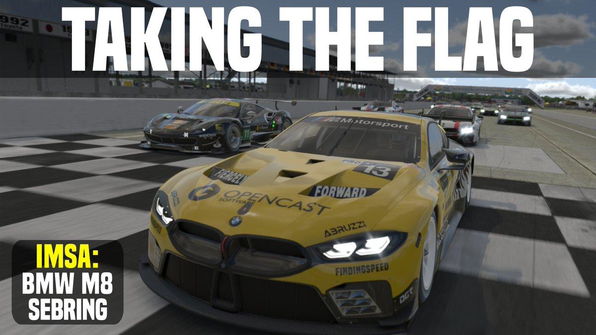 🏁🏁First race of the season. First win of the season.🏁🏁  https://youtu.be/O1W0_wOk3tE  #iRacing #IMSA #SimRacing #VR  PS. I'll be crashing LIVE tonight from around 9:30pm GMT