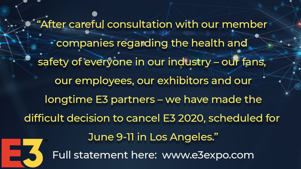 E3 is Cancelled ES1vMbiX0AAQcCH?format=jpg&name=medium