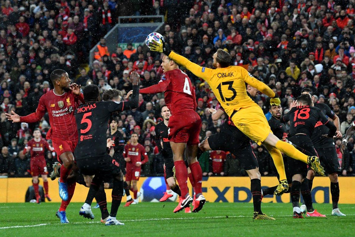أتلتيكو مدريد يتغلب على ليفربول في الانفيلد ويتأهل للدور ربع النهائي من دوري الأبطال