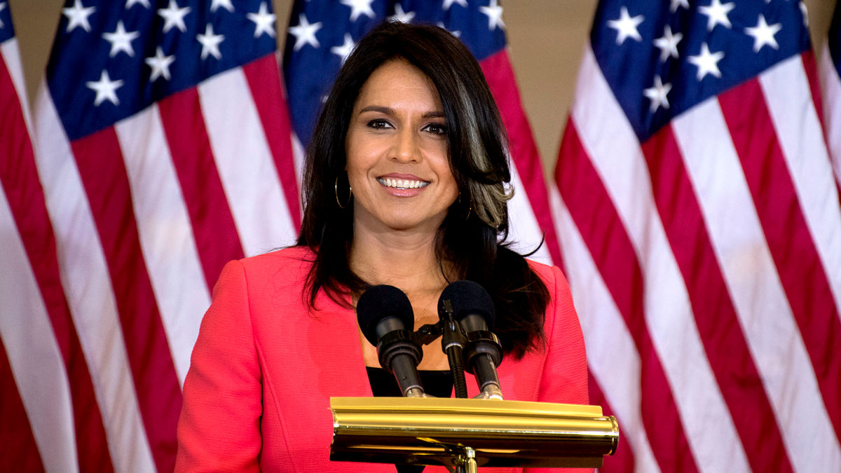Tulsi Gabbard Named Democratic Nominee After Discovery Of Obscure Rule That Grants Nomination To Whoever Wins 0.7% Of The Vote In Missouri https://t.co/v1wS2cBZQL https://t.co/2sve2Pekvy