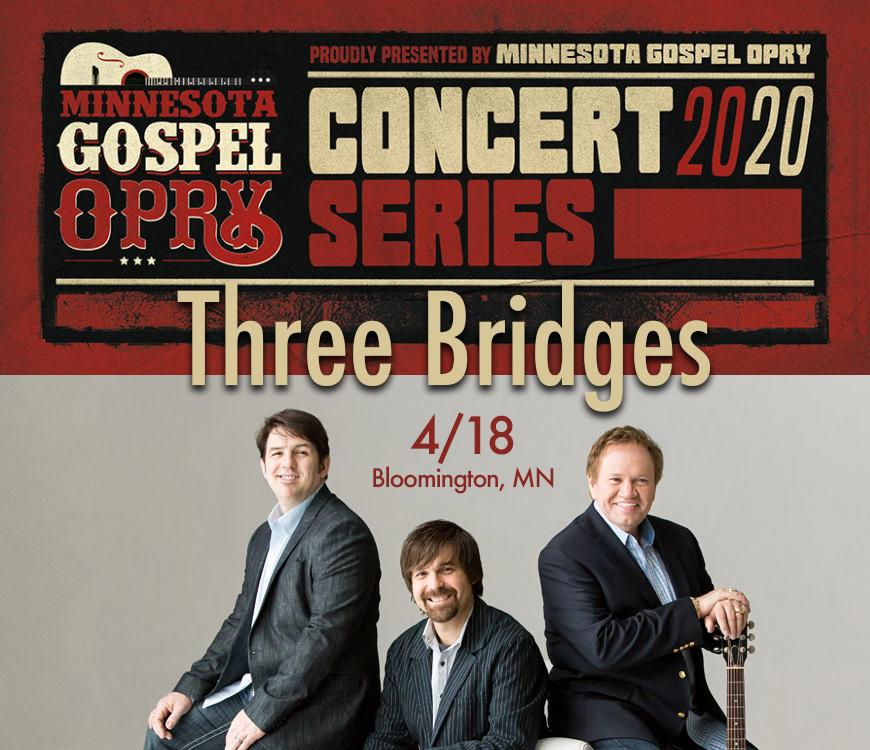 Come see @3BridgesMusic this April in #BloomingtonMN!  Tickets: https://t.co/Qj5QhmyZkD  #Live #Christian #Music #Concert #LiveMusic #LiveConcert #SouthernGospel #SoGo #Worship #Trio #Southern #Gospel #GospelMusic #Entertainment https://t.co/SUqkzWJLzE