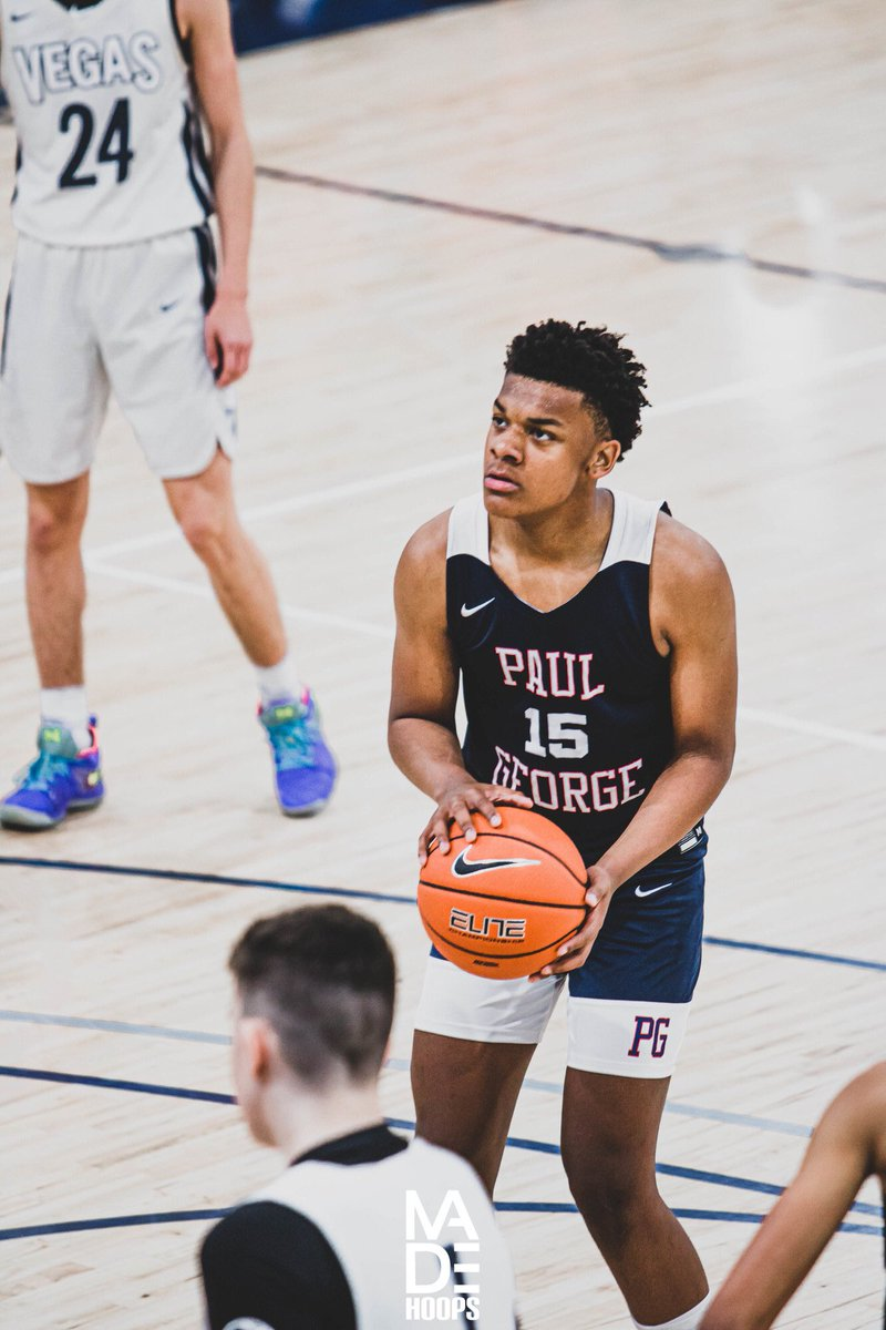 """2024 6'4""""+ wing James Evans came into Winter Circuit ❄️ in great shape, and the Paul George Elite prospect has gotten better throughout #Lea8ue play. His added athleticism & explosiveness was  noted. 📈 #CreateYourName https://t.co/TuOPTGyQsV"""