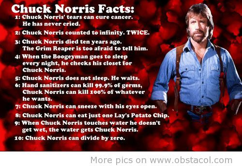 Happy 80th birthday to Chuck Norris! What\s your favorite Chuck Norris fact?