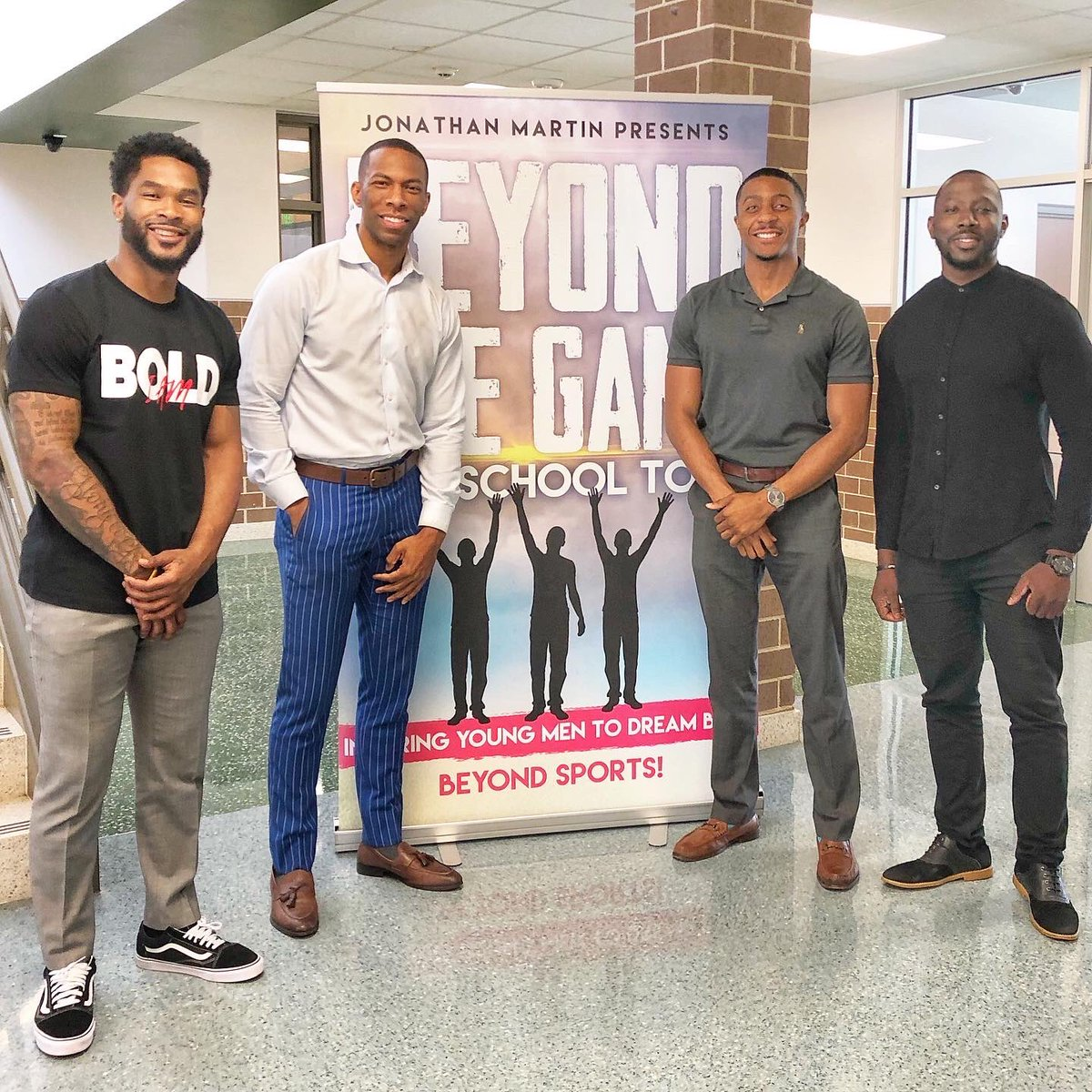 My #BeyondTheGame tour stopped at Worthing High School @HoustonISD! We spoke to the 11th grade young men.