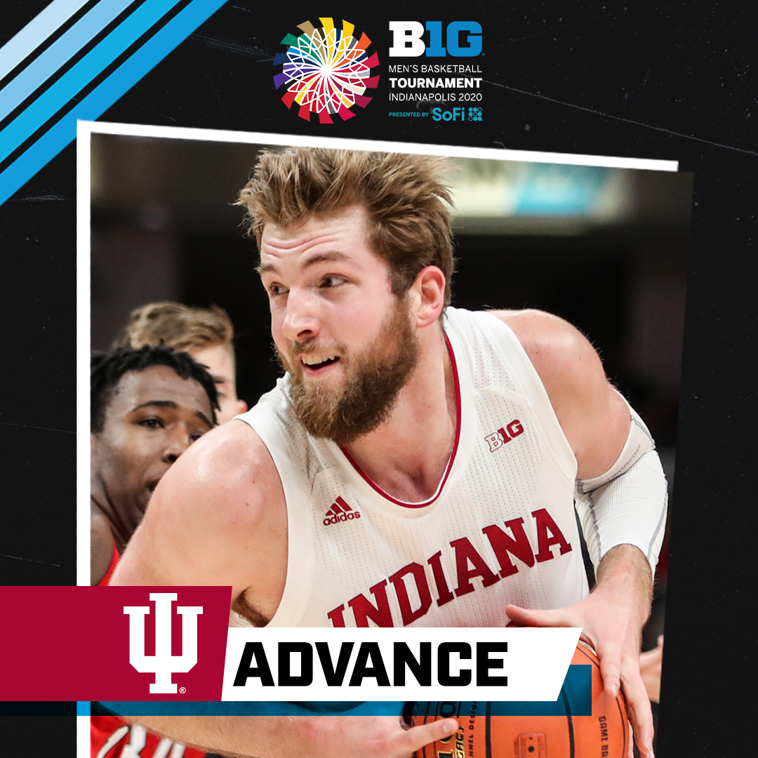 No. 11 @IndianaMBB advances to the second round of the 2020 #B1GTourney.