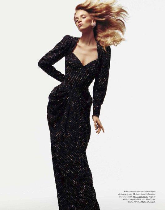 's Media: Ooh la la: #RebeccaLeighLongendyke wears #MichaelKorsCollection in the latest issue of @VogueParis.