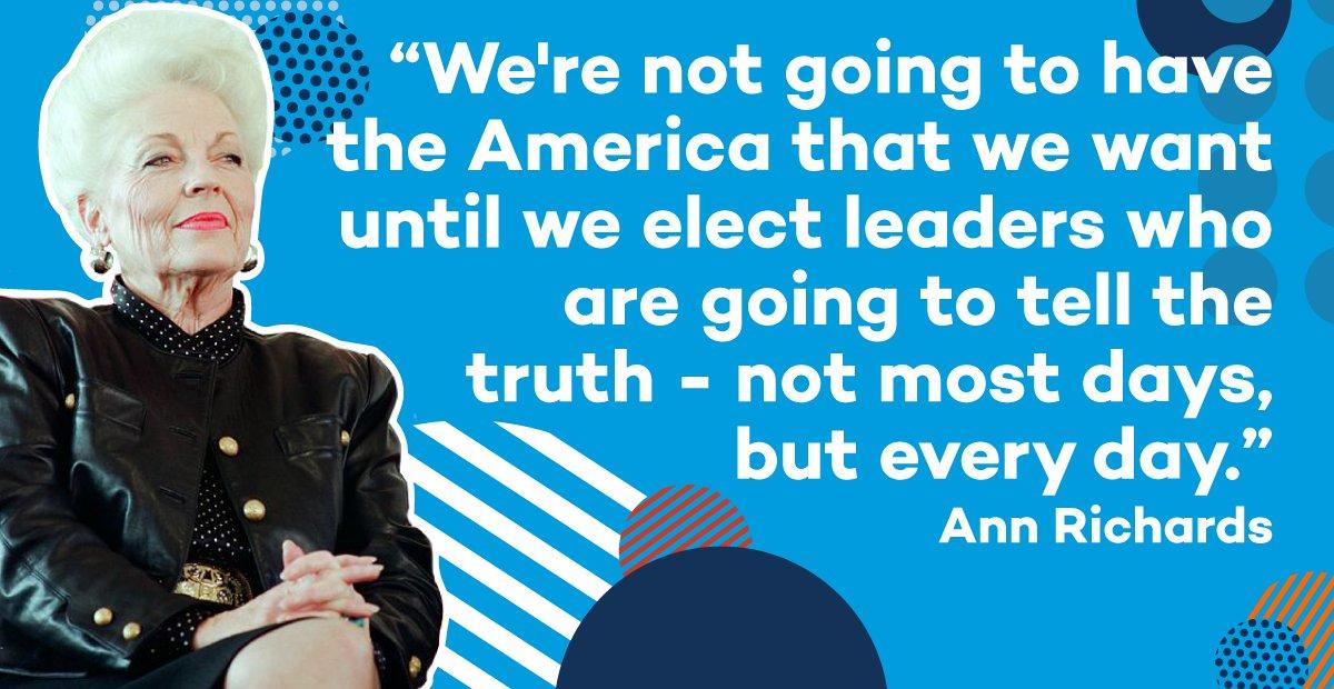 Well said, Ann Richards. #WomensHistoryMonth