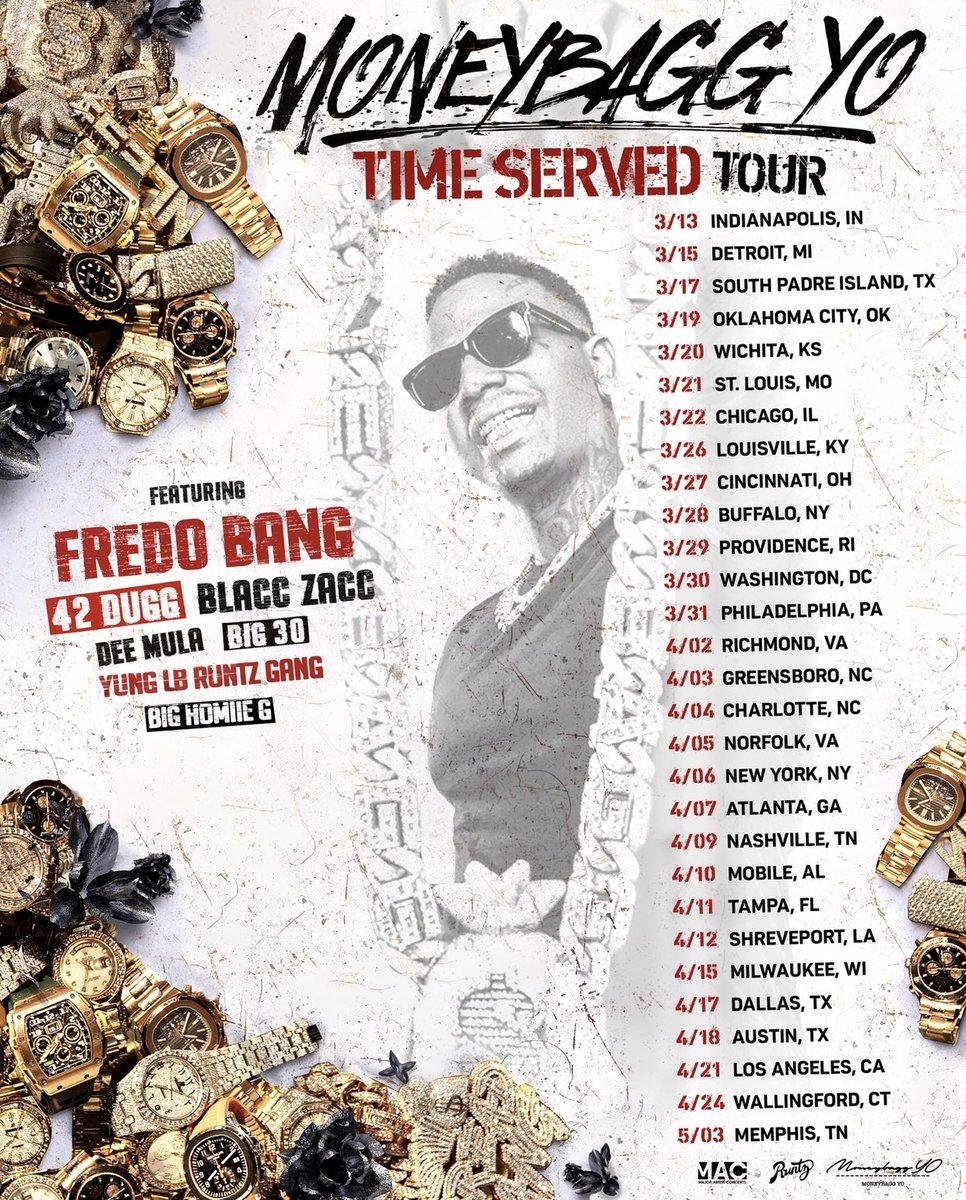 "Expect Nothing Less Than ""Da Greatest Show On Earth"" EVERY CITY !! GO !! #TimeServedTour #LinkNbio 🔥🔥"