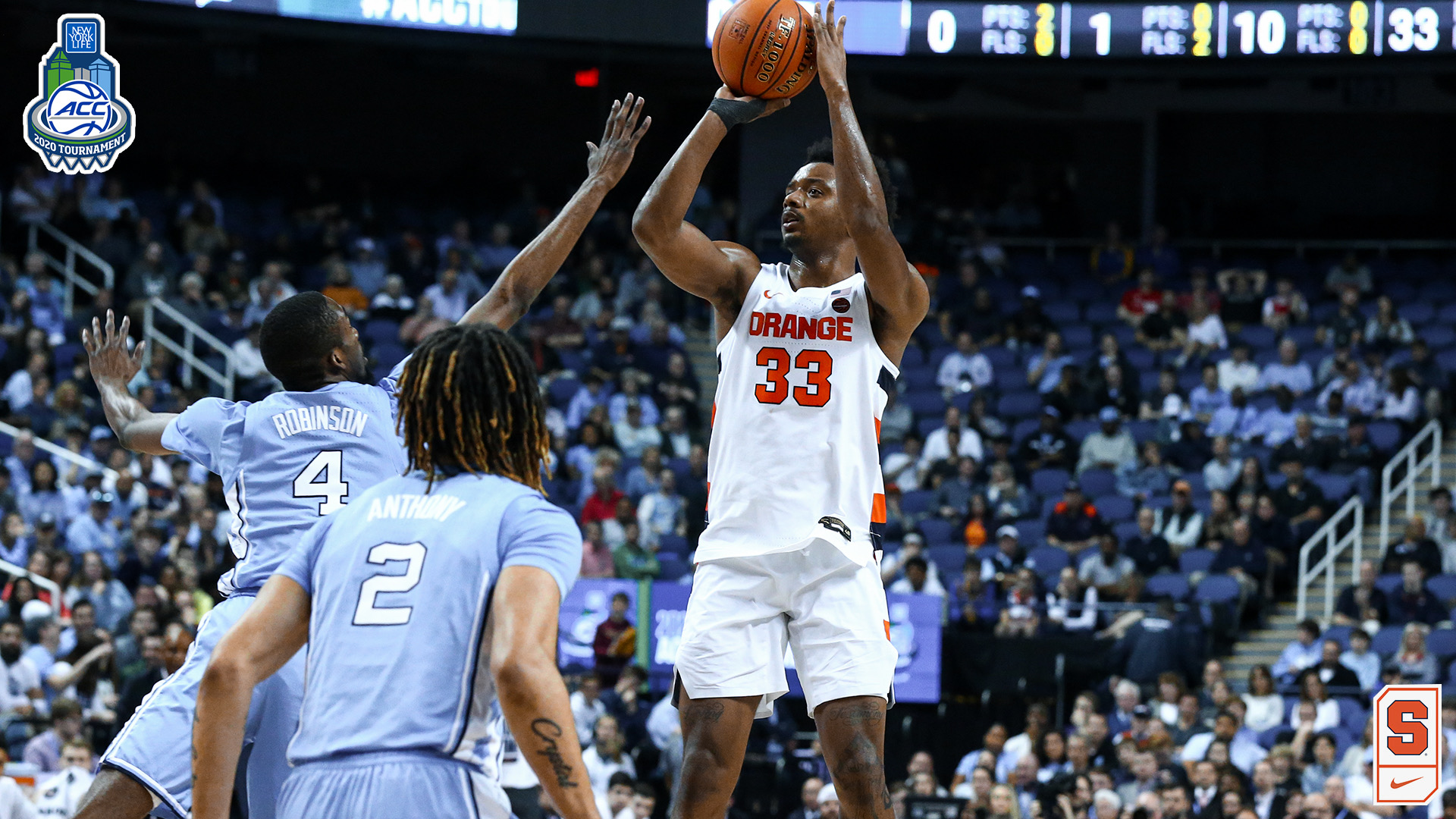 ORANGE GAME DAY: Syracuse takes on North Carolina tonight in ACC second round