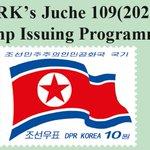 Image for the Tweet beginning: KSC publishes 2020 DPRK stamp