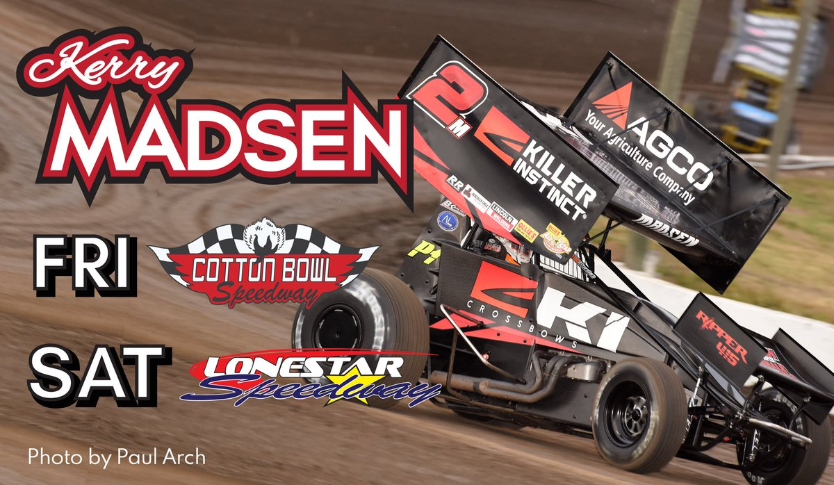 We are joining the @WorldofOutlaws this weekend in Texas!