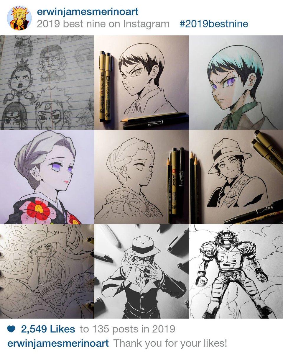 The best nine of 2019 from my previous page...  #bestnine #bestnine2019 #anime #naruto #kimetsunoyaiba #eyeshield21 #art #chibi #demonslayerpic.twitter.com/soiAiEiaXI