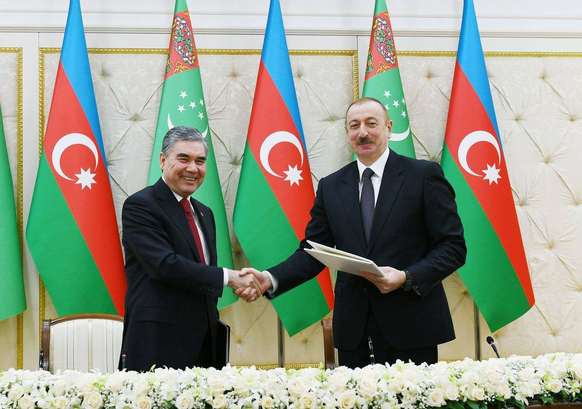 """TRT AVAZ on Twitter: """"Türkmenistan Devlet Başkanı Berdimuhamedov,  Azerbaycan'da Türkmenistan Devlet Başkanı Gurbangulu Berdimuhammedov, resmi  temaslarda bulunmak üzere geldiği Azerbaycan'da Cumhurbaşkanı İlham Aliyev'le  görüştü.… https://t.co/iNABig58V4"""""""